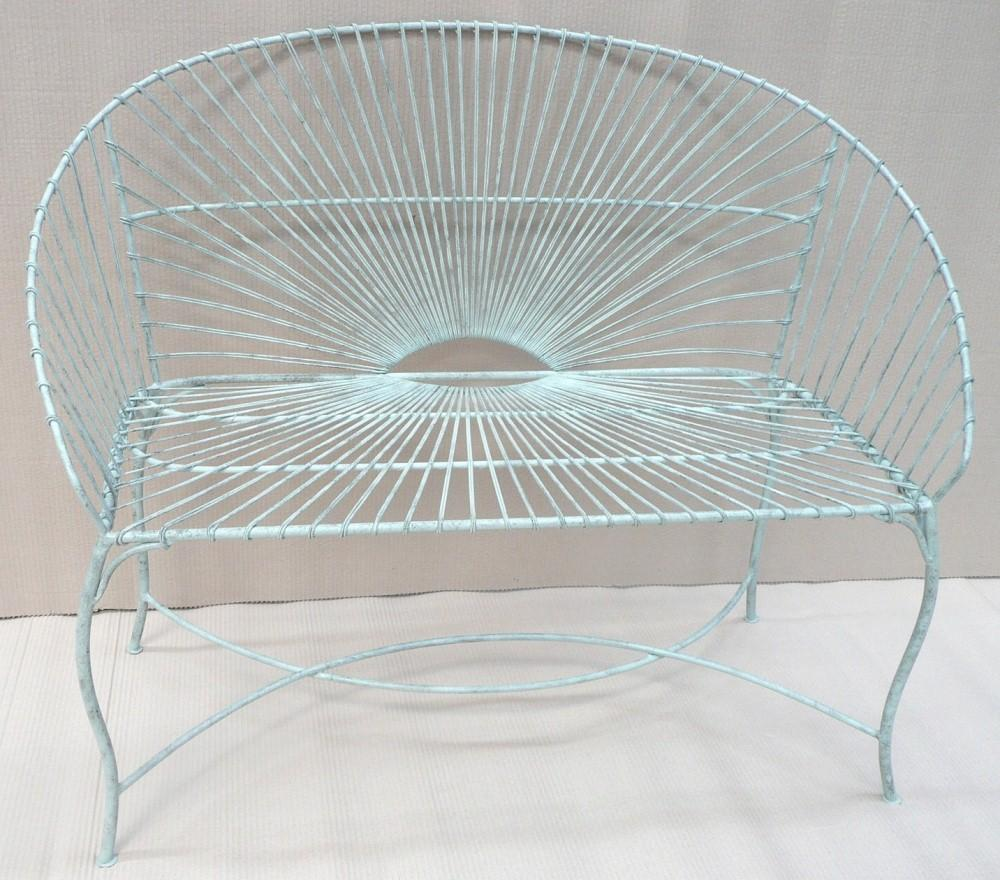 Green iron wire garden bench Garden Products, Telford Recycle ...