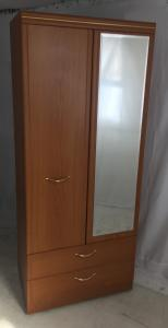 teak affect combination wardrobedrawers