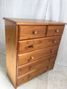 solid pine chest of drawers 2 over 4