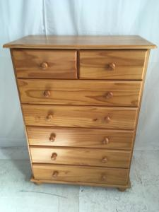 large pine chest of drawers 2 over 5