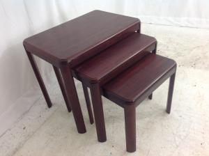Mahogany style nest of tables