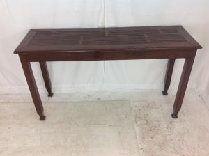Dark wood hall  side table