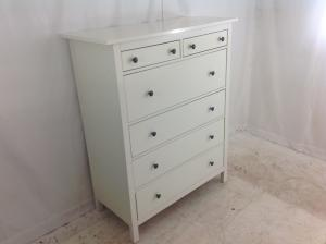 large white chest of drawers