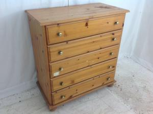 Used_pine_5_drawer_chest