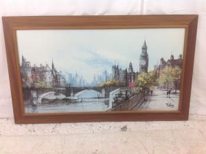 Thames_Embankment_by_Ron_Folland__print_1977_