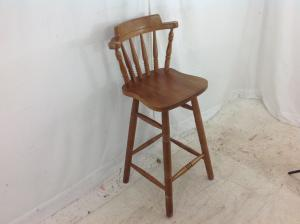 hardwood bar stool