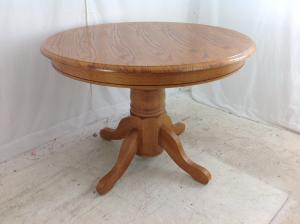 large oak effect table