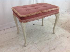 Vintageretro Sherborne pink dressing table stool