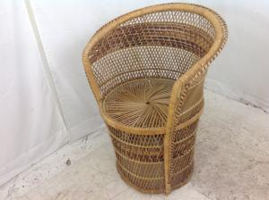 vintage wicker tub chair