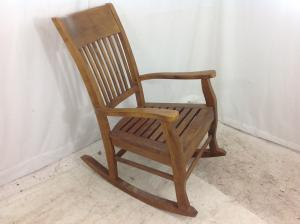 heavy large grandfather rocking chair