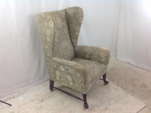 Large antique fireside grandfathers arm chair