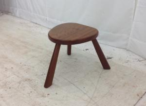3 leg teak milking stool