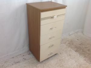tall drawers cream  teak effect