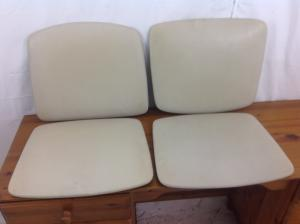 Set of 4 original seat pads for 60s  70s teak chairs
